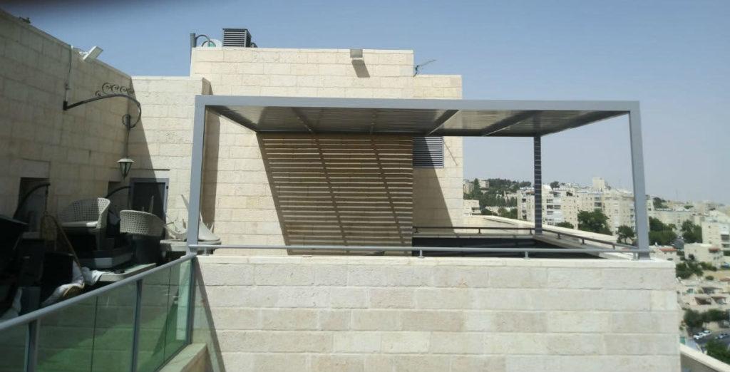 פרגולה שבנינו בירושלים