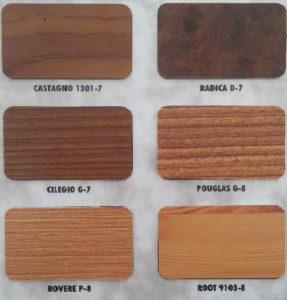דוגמאות של צביעת אלומיניום דמוי עץ