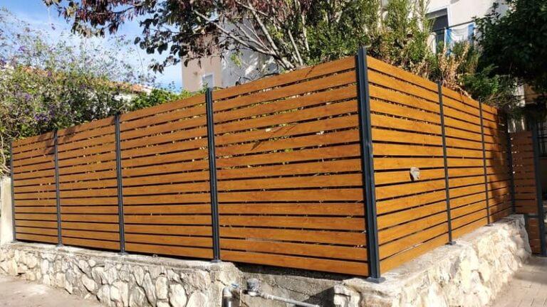 גדרות אלומיניום דמוי עץ לגינה מחיר
